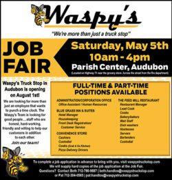 Waspy's Audubon Job Fair Ad