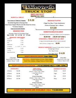 waspys menu