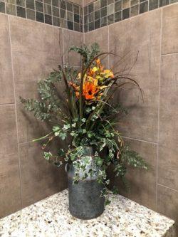 flowers in waspys bathroom