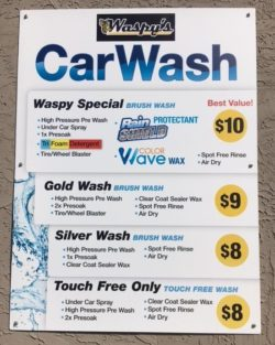 waspys car wash options