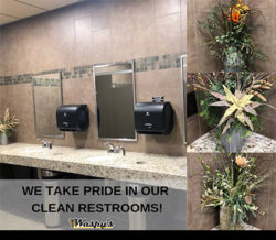 Waspy's clean restrooms