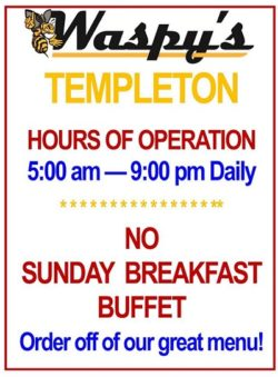Templeton IA Buffet
