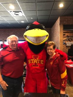 Waspy's with Iowa State mascot