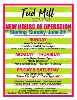 The Feed Mill Summer Hours