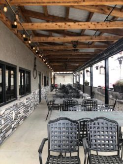 patio at The Feed Mill