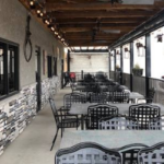 outdoor patio at The Feed Mill