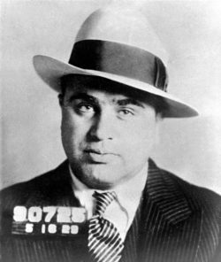 mug shot of Chicago gangster Al Capone