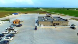 Aerial shot of Waspy's Templeton, Iowa, truck stop