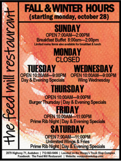 The Feedmill New Hours