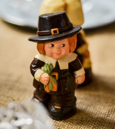 Tiny pilgrim salt shaker