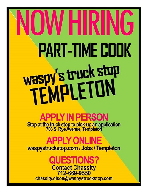 part-time cook templeton