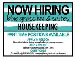 Blue Grass Inn Now Hiring Housekeepers