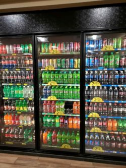 Waspy's coolers with sodas and drinks