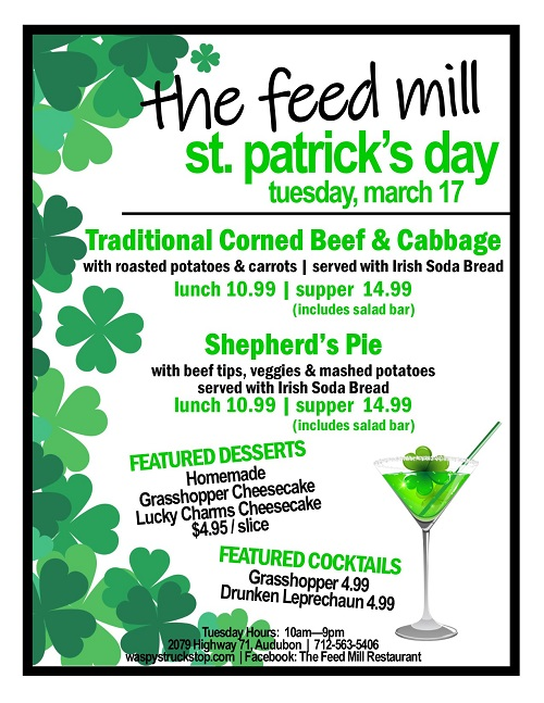 st. patrick's day at The Feed Mill