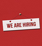 Red We Are Hiring Sign