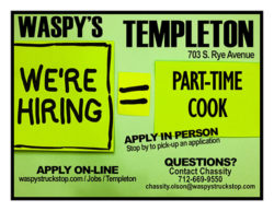 We're Hiring Part-Time Cook