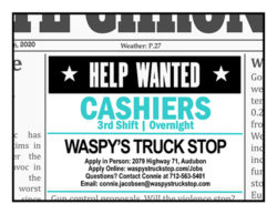 Help Wanted Cashiers