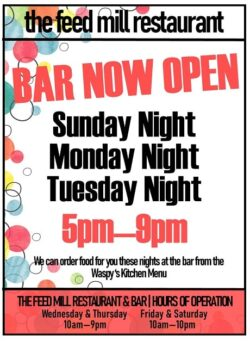 Bar Now Open Sign