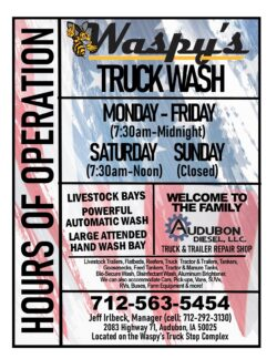 Waspy's Truck Wash Hours of Operation