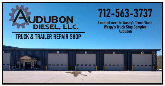 This is a photo of Audubon Diesel, located at the Waspy's Audubon Truck Stop Complex in Audubon, IA.