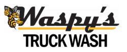 Waspy's Truck Wash black and yellow logo