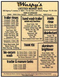 trailer rinses