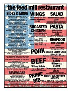 Feed mill menu