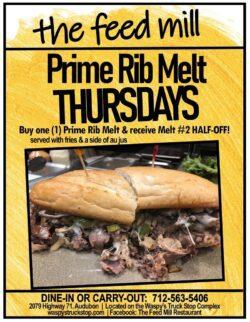 the feed mill prime rib melt