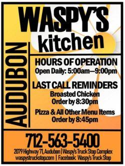 waspys kitchen menu