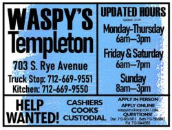 waspy's templeton