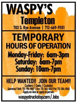templeton hours