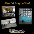 Need a staycation? Swimming pool and hot tub.