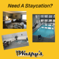 Need A Staycation? Pics of a pool, Jacuzzi, and suite