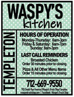 waspy's kitchen menu