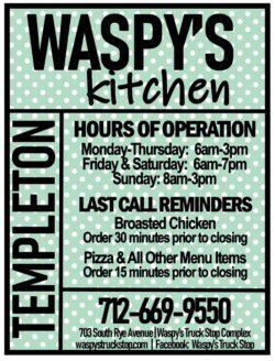 waspy kitchen hours