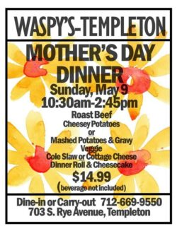 Templeton Mother's Day dinner