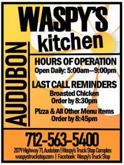 hours of operation menu