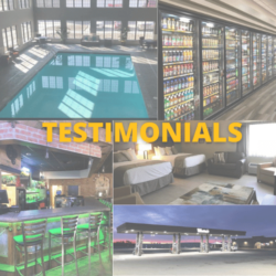 Testimonials-pool, bar, cooler station