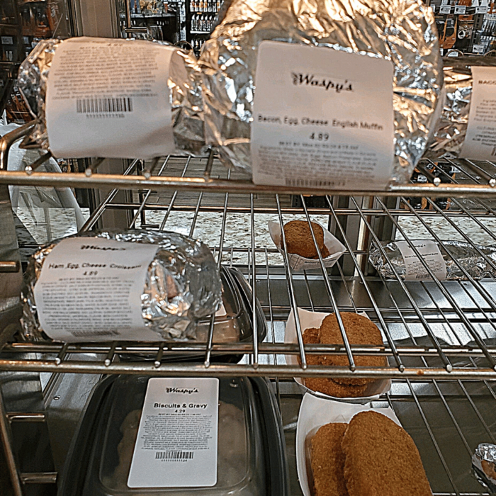 A yummy selection of food at Waspy's grab and go