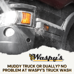 If your truck, dually, or ATV is muddy, get it sparking clean at Waspy's Truck Wash in Audubon, IA.